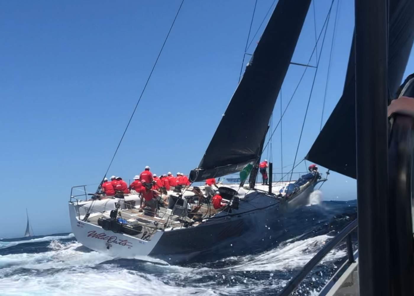 Sydney to Hobart start on an Axopar 28
